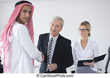 Arabic business man at meeting - Business meeting - Handsome...