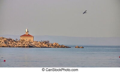 Lighthouse landscape at Adriatic sea