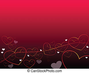 Heart of abstract background