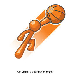 Orange Man Basket Ball Hero Slam Dunk - Orange Man basket...