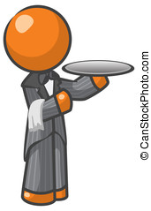 Orange Man Butler - Orange Man butler or house servant, a...