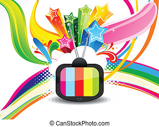 abstract colorful television