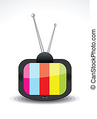 abstract television icon vector