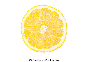 Lemon slice isolated on the white background