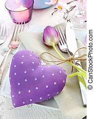 Delicate Romantic Table Setting - Delicate romantic table...