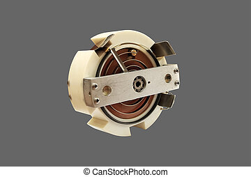 Potentiometer - Laboratory potentiometer, close-up, isolated...