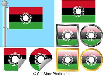 Flag Set Malawi