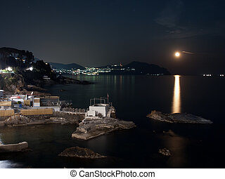 Genoa Nervi by night