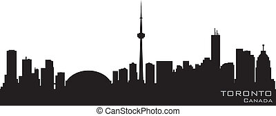 Toronto Canada skyline Detailed vector silhouette