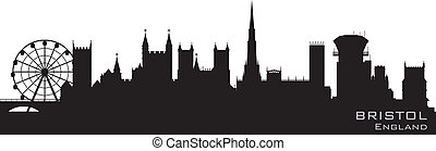 Bristol, England skyline. Detailed vector silhouette