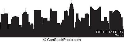Columbus, Ohio skyline Detailed vector silhouette