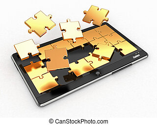 Tablet pc software. Screen from puzzle.