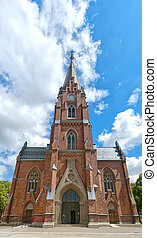 Lund church 02 - An image of an old medieval church in the...