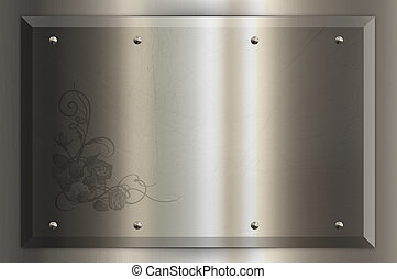 Chrome nameplate. - Chrome plate for the design of your...