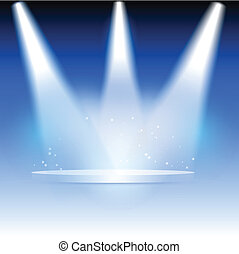 Spotlights - Illustration of three spotlights highlighting a...