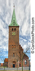Helsingor church 01 - An old church situated in the danish...