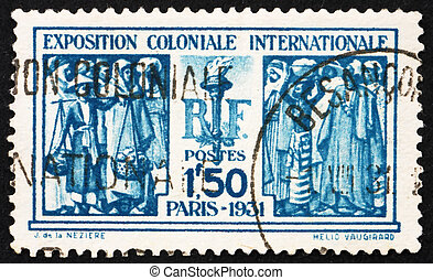 Postage stamp France 1931 French Colonials - FRANCE - CIRCA...