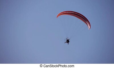 flying motor paraglider