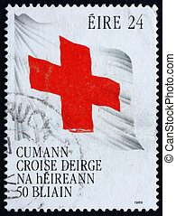 Postage stamp Ireland 1989 Flag with Red Cross