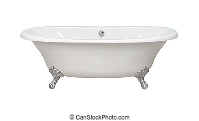 Retro bathtub - Vintage bathtub isolated with clipping path...