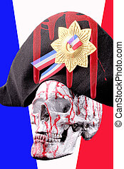 skull - A human skull with a napoleon hat