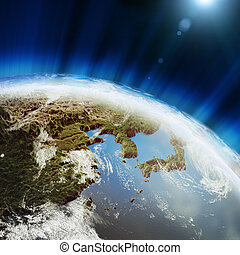 East earth map Elements of this image furnished by NASA