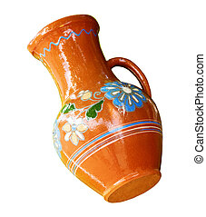 Traditional Slavonic ceramic jug - Traditional ornate by...