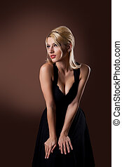 beauty woman posing like pin-up style