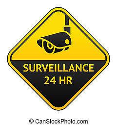 CCTV pictogram, video surveillance sticker - Warning Sticker...