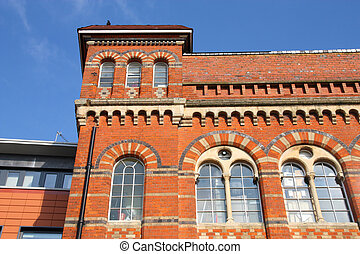 Birmingham Jewellery Quarter Old brick factory building West...