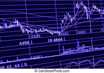 Analysis stock chart on monitor - Analysis stock chart on...