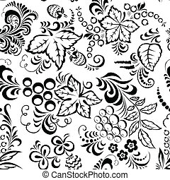 leaves seamless - Stylized floral design. Seamless.