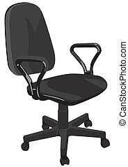 Office armchair on a white background