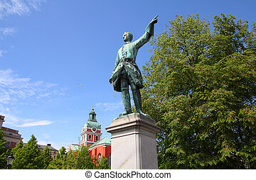Stockholm sculpture - King of Sweden - Charles XII (Karl...