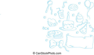 cartoon doodles party icons