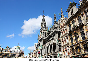 Brussels, Belgium - famous building: Maison du Roi The Kings...
