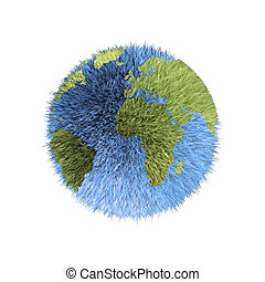 grass world - a world made of blue and green grass