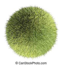 green grass ball - a round world made of green grass