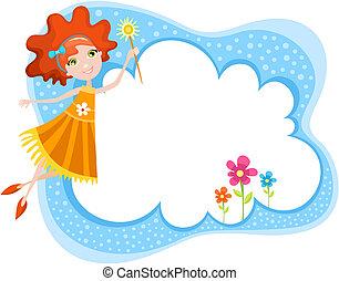 fairy - vector illustration of a cute fairy