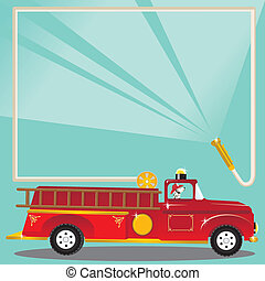 Firetruck Birthday Party Invitation - Super cute firetruck...