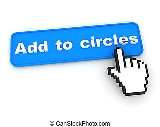 Add To Circle Button with  Hand Shaped mouse Cursor