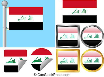 Flag Set Iraq