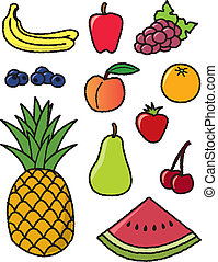 Eleven Common Fruits