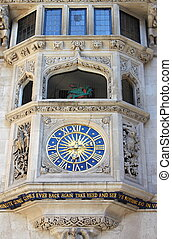 Liberty clock in London - Detailed view of Liberty clock in...