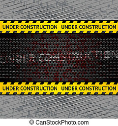 Under construction background template Vector 10eps