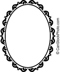 frame oval - silhouette ornamental frame oval