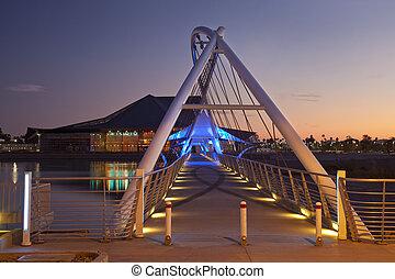 Rio Salado Pedestrian Bridge over the Salt River in Tempe...