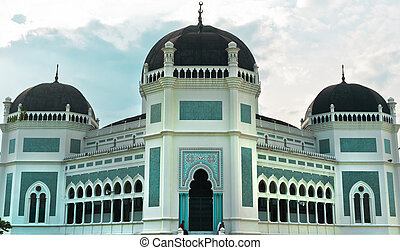Great Mosque in Medan - Great Mosque of Al-Mashun in Medan,...