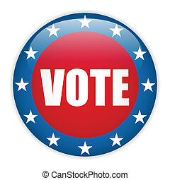United States Election Vote Button - Vector - United States...