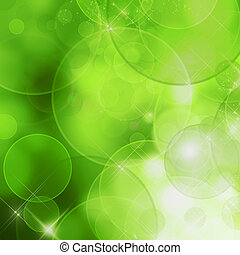 Abstract nature background green bokeh